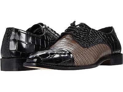 Stacy Adams Talarico Leather Sole Cap Toe Oxford (Black/Gray) Men