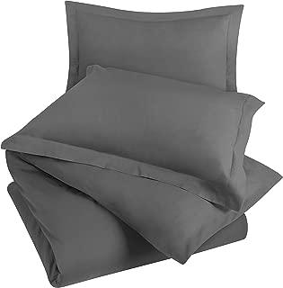 Utopia Bedding 3pc Duvet Cover Set with 2 Pillow Shams, (King Grey)