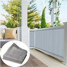ZHANWEI balkon inkijkbescherming, binnen buiten kas carport beschermingshek, isolatie 90% UV-bescherming met tule schaduwn...