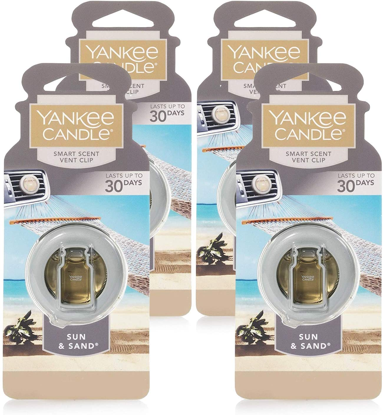 Yankee Candle Omaha Mall Car Freshener Large special price Smart-Scent Sun Clips Vent 4-Pack