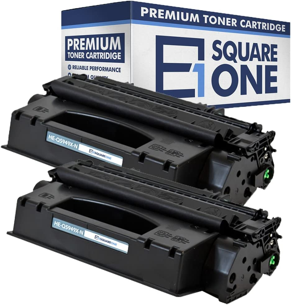 High Yield Black, 8-Pack eSquareOne Compatible Toner Cartridge Replacement for HP 49X Q5949X