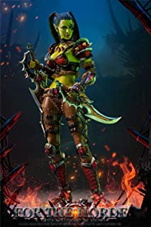 1/6 Scale Female Seamless Action Figures 12 Inch Orc Female Assassin Garona Soldier Model for Collection, Art And Photography