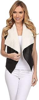 Juniors Faux Sleeveless Suede Outerwear Vest