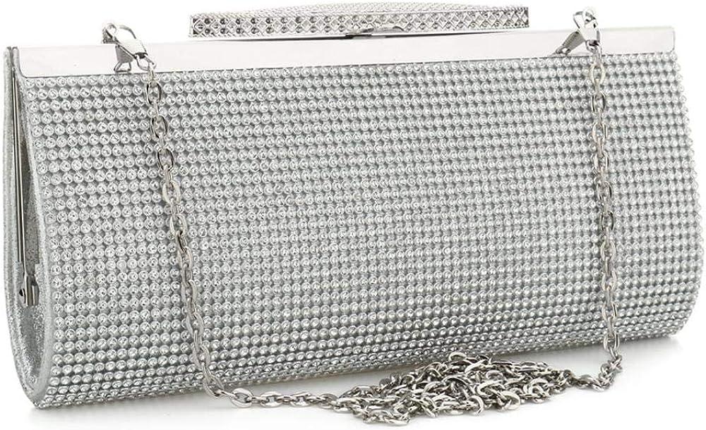 Popular product Evening Party Clutch Louisville-Jefferson County Mall Handbag Bling Shiny Wedd Sparkly Rhinestone