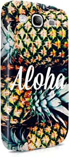 Aloha Tropical Pineapple Pattern Plastic Phone Snap On Back Case Cover Shell Compatible with Samsung Galaxy S3