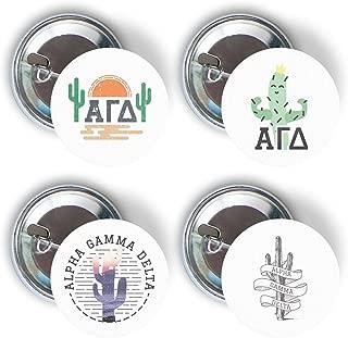 Alpha Gamma Delta Sorority Cactus Desert Variety Pack of Buttons Pin Back Badge 2.25-inch Alpha Gam