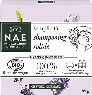 N.A.E. - Shampooing Solide Certifié Bio - Usage Quotidien Cheveux Normaux - Extraits de Riz Bio et de Lavande Bio - Formul...