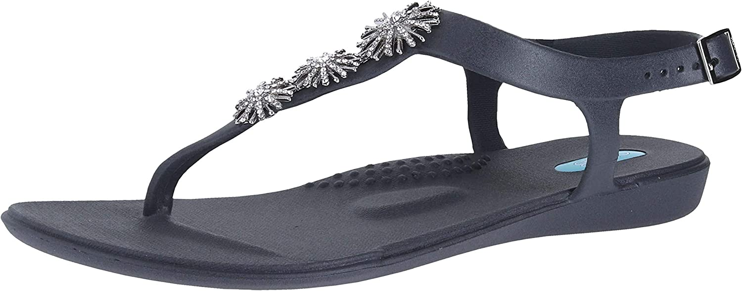 Oka-B Elena Flip Flop Sandal shoes with Ankle Strap