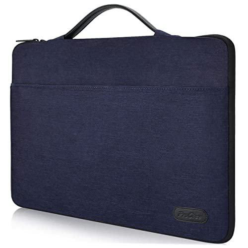 """ProCase Funda 14-15.6 Pulgadas para 15"""" MacBook Pro 2016, Bolsa Portátil con Asa para 14"""" 15"""" Ultrabook Notebook ASUS Acer Lenovo DELL HP Toshiba Chromebook -Azul Oscuro"""