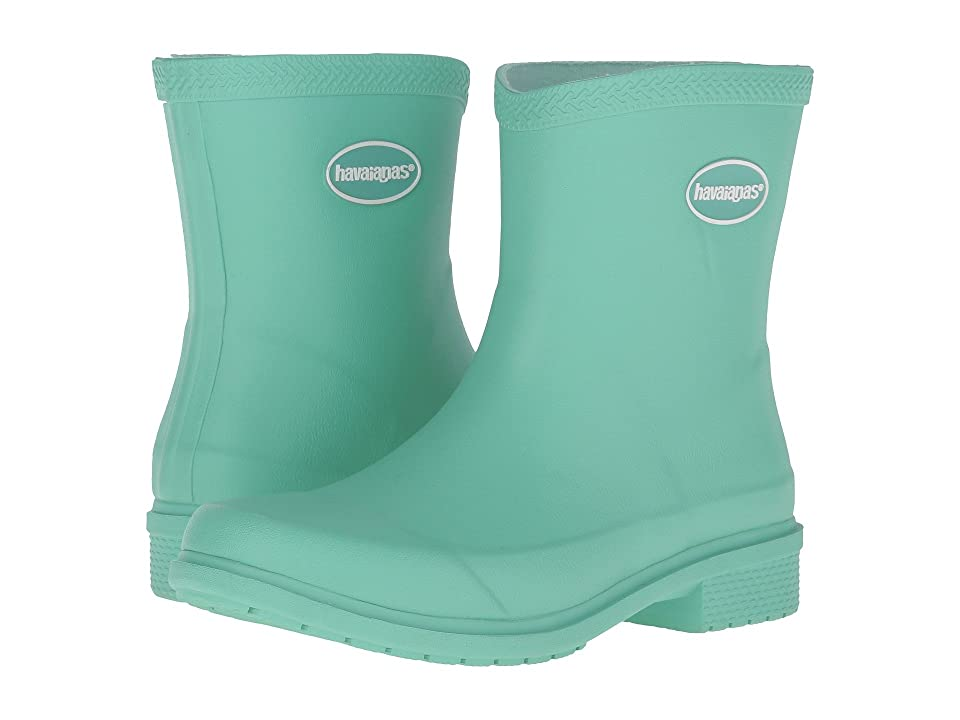 Havaianas Galochas Low Matte Rain Boot (Light Green) Women