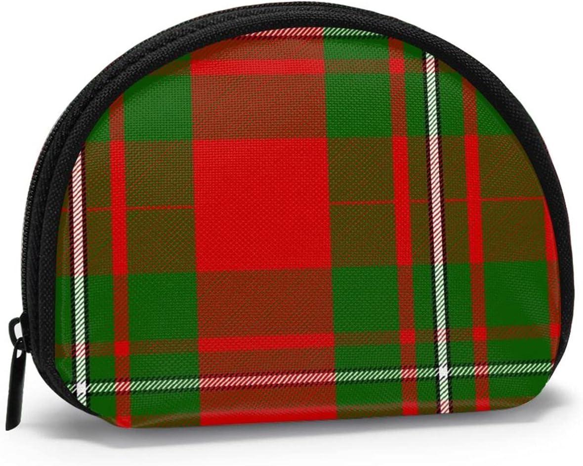 small zipper Coin Purses Vintage zipper Pouch Change Purse Wallets Scottish Clan Macgregor Tartan