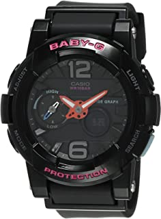 G-Shock Womens BGA180 Glide with Tide Graph Baby-G Series Designer Watch Black One Size