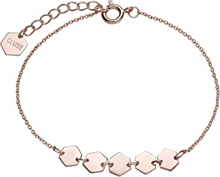 Women's Essentielle Rose Gold Plated Brass ​Hexagons Chain ​Bracelet CLJ10007