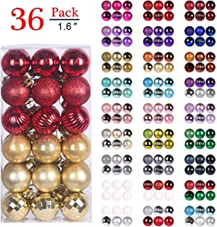 GameXcel Christmas Balls Ornaments for Xmas Tree - Shatterproof Christmas Tree Decorations Large Hanging Ball Red & Gold with Irregular Ball 1.6