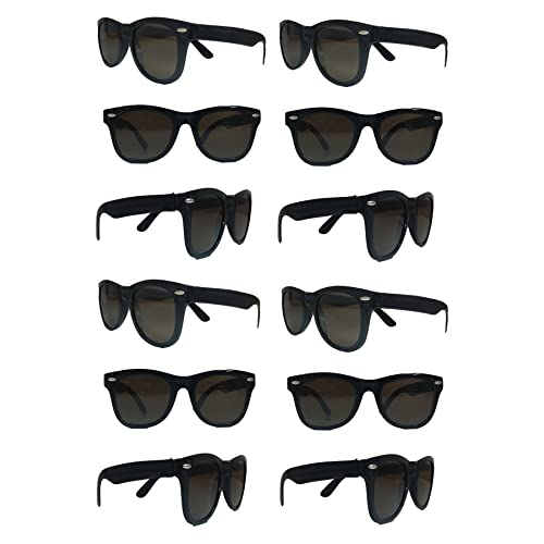 3829452b8b6 Amazon.com  TheGag Black Sunglasses Wholesale Party Pack-12 Retro Wayfarer  Risky Business-Blues Brothers Black Sunglasses for Graduation Mardi Gras ...