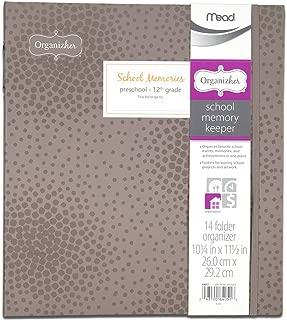 Mead Organizher School Memory Keeper, 14-Folder Organizher, 10.25 x 11.5 Inches, Gray (64014)