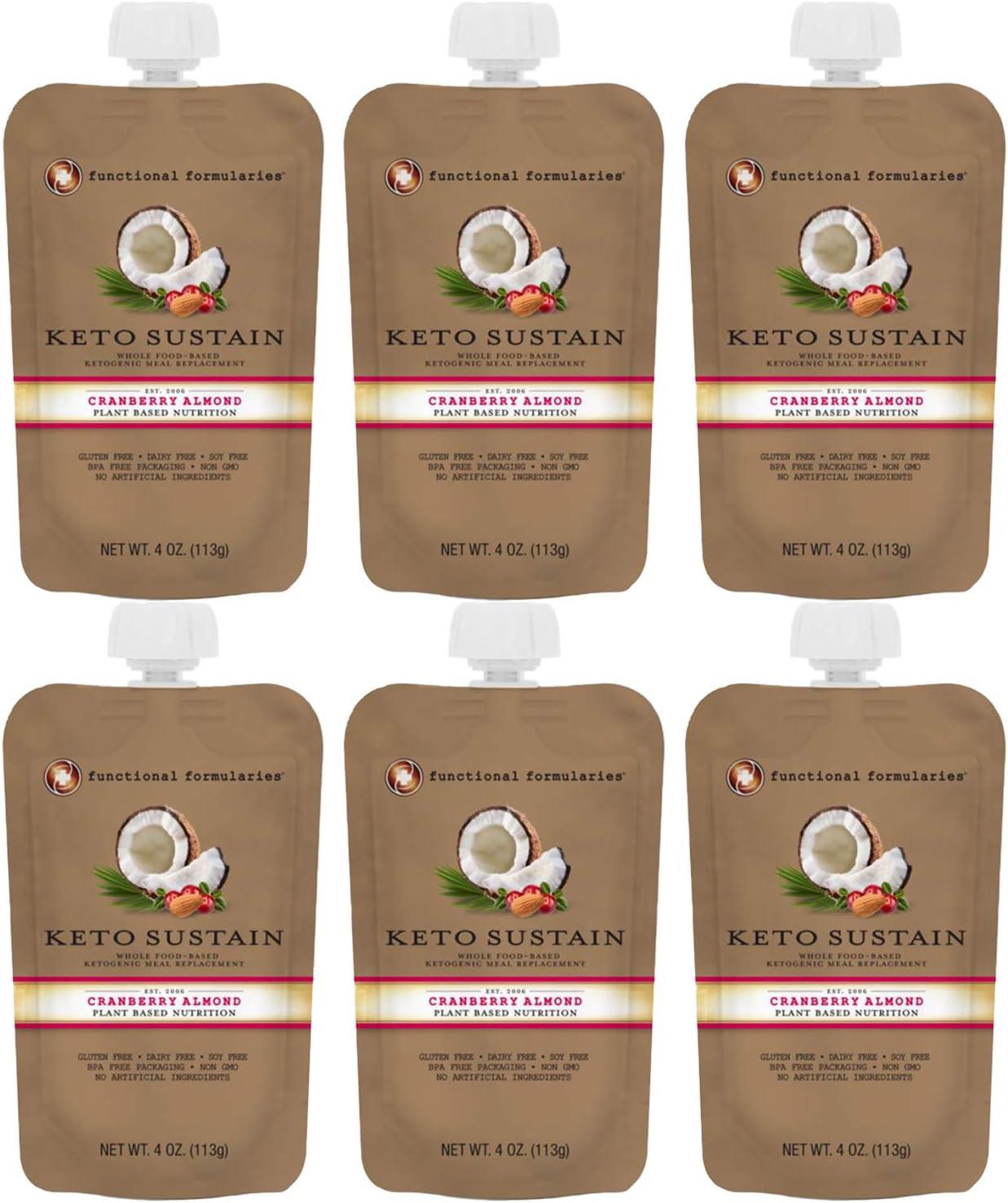 Functional Formularies New sales Keto Sustain Ketogenic Almond Under blast sales Cranberry