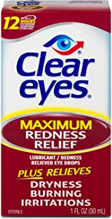 Clear Eyes Maximum Strength Redness Relief Eye Drops, Red Eye Relief, 1 fl oz