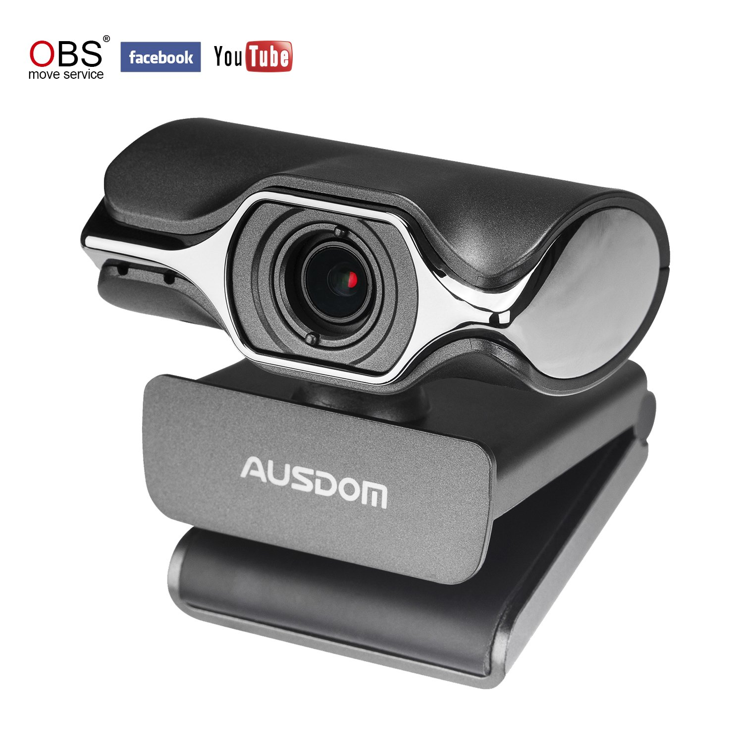 AUSDOM Webcam Streaming AW620 Pro Stream Web Camera Full 1080p HD Built-in Microphone OBS Studio for YouTube or Twitch Streaming: Amazon.co.uk: Computers & Accessories