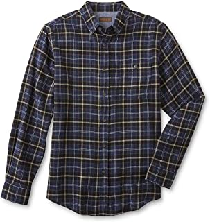 Northwest Territory Men's Flannel Sport Shirt - Plaid Dark Denim. Size L