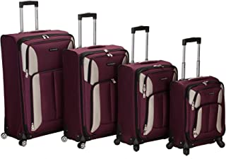 Luggage Impact Spinner 4 Piece Luggage Set, Burgundy, One Size