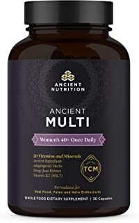 Ancient Nutrition, Ancient Multi Women's 40+ Once Daily - Multi Vitamin & Immune Support, Adaptogenic Herbs, 30 Capsules