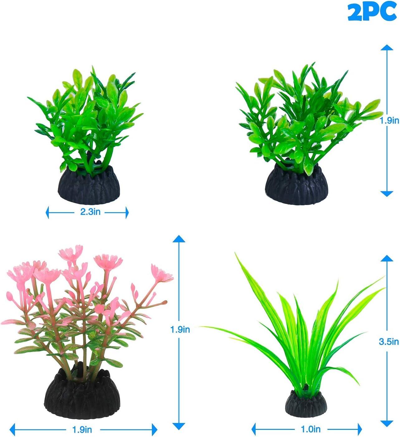 SEAHEEN Fish Tank Plant Aquarium Decoration Fish Tank Decoration Artificial Plastic Plant Green kit