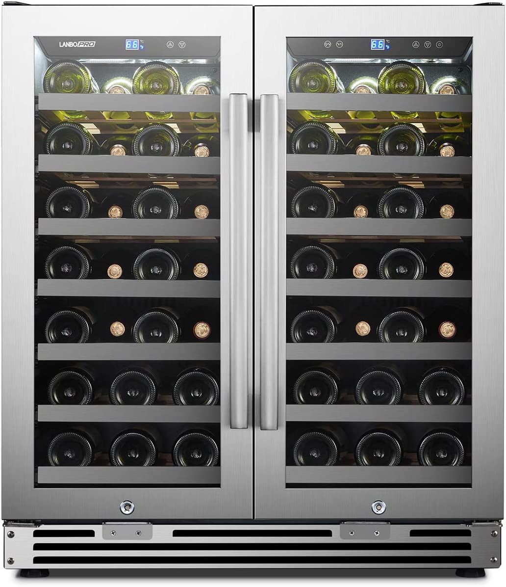 LanboPro Stainless Steel Dual Zone Stainl Seamless Cooler Wine - Sales for San Francisco Mall sale