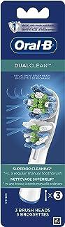 Oral-B Dual Replacement Replacement Replacement Earthing Brush Heads، 3ct