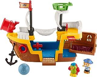 Fisher-Price Little People Pirate Ship juego con música, sonidos y acción para niños pequeños y niños preescolares de 1 a 5 años