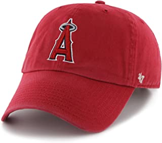 '47 MLB Los Angeles Angels Brand Red Basic Logo Clean Up Home Adjustable Hat