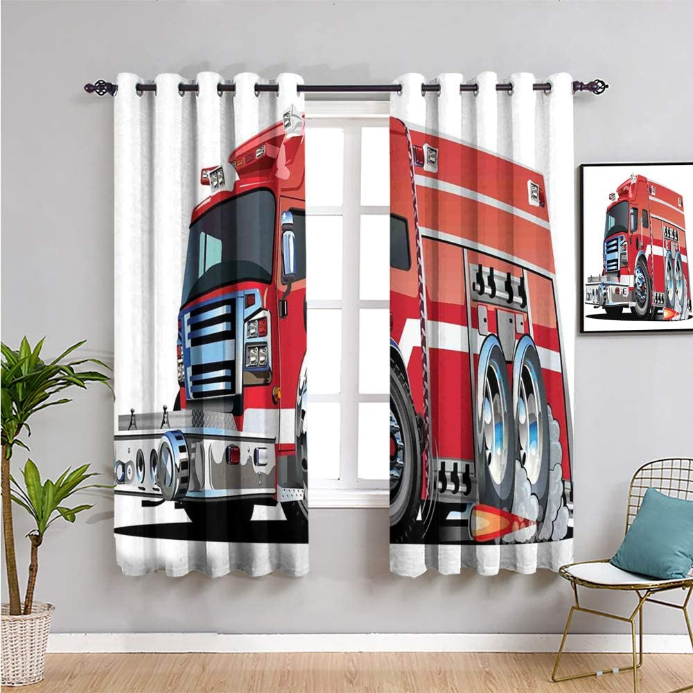 Cars Max 78% OFF Room Direct sale of manufacturer Darkened Curtain Curtains 63 fire inch Length Big Tru