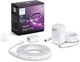 Philips Hue Bluetooth Smart Lightstrip Plus 2m/6ft Base Kit with Plug, (Voice Compatible with Amazon Alexa, Apple Homekit ...