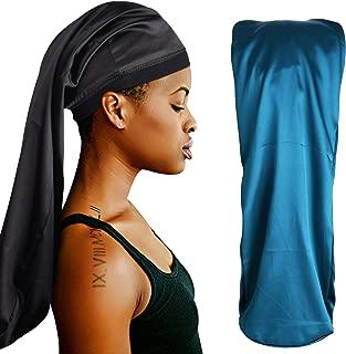 ROYBENS Extra Long Satin Bonnet for Women Braids, Double-Layer Reversible Sleep Cap
