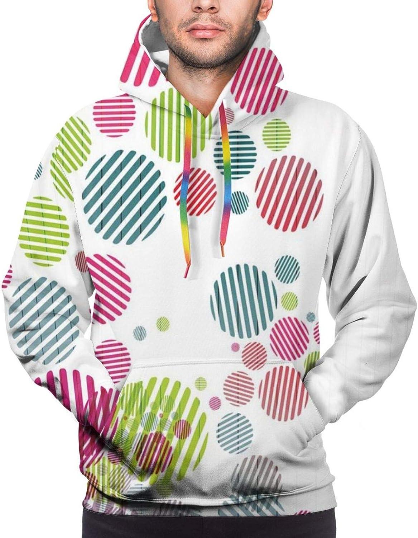 Men's Hoodies Sweatshirts,Abstract Artistic Pattern of Vintage Peeled Dotted Print