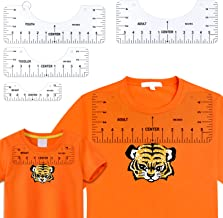 Juome 4 Pcs T Shirt rulers to Center Designs, Tshirt Ruler Guide for Vinyl Placement, Transparent PVC T-Shirt Alignment Gu...