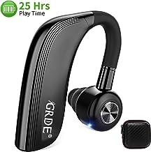 GRDE Manos Libres Bluetooth Auricular Inalámbricos Bluetooth Auricular Bluetooth In-Ear con 25 Horas de Tiempo de Conversación HD Siri Micrófono Cancelación de Ruido para Smartphone Business y Driving