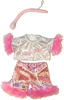 """Girl Rock Star Outfit with Microphone Fits Most 8""""-10"""" Webkinz, Shining Star and 8""""-10"""" Make Your Own Stuffed Animals"""