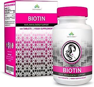 Biotina 10000mcg Doble Concentración - Vitamina B7 - Para Cabello y Piel - Para Hombres y Mujeres - Apto Vegetarianos - 90 Pastillas