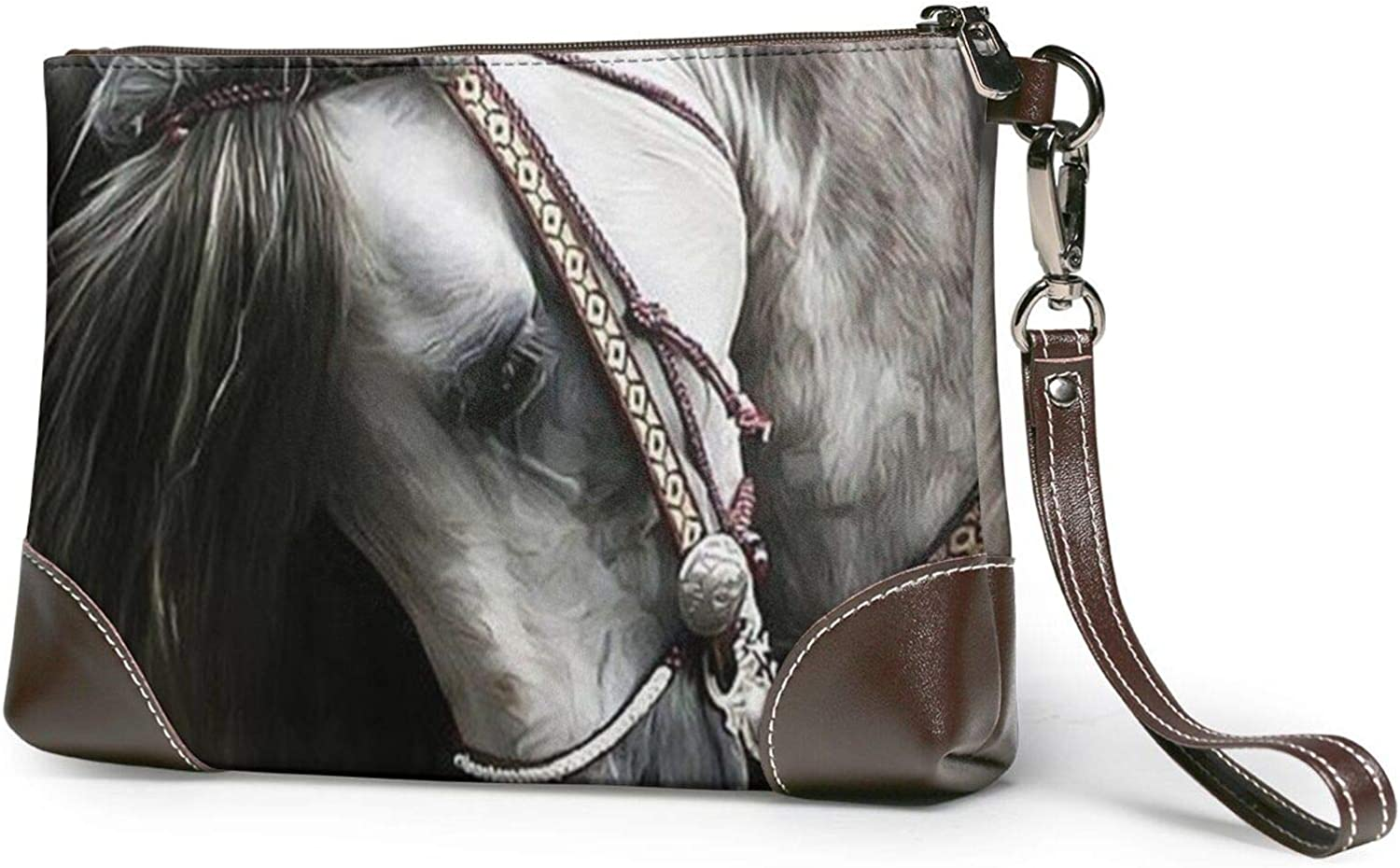 White Horse Clutch Purses cheap Leather Wristlet Very popular Wallet