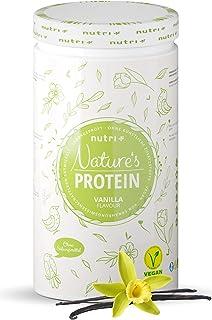 Natures proteinpulver vanilj utan sötningsmedel 500 g - 83,1% protein - Nutri-Plus laktosfri dryck - som skaka eller för b...