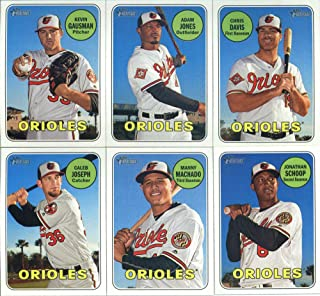 2018 Topps Heritage Baltimore Orioles Team Set of 11 Cards: Chris Davis(#15), Adam Jones(#37), Chance Sisco/Austin Hays(#6...