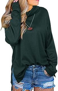 KILIG Women' s Turtleneck Long Sleeve Side Split Loose Sweater Casual Knit Pullover Tunic Tops