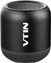 Altavoz Bluetooth Portátiles, VTIN K1 Altavoz Pequeño Sonido HD Estéreo Premium 8W, HiFi Potente Bass, con Micrófono, Conexión de Bluetooh/AUX 3.5mm/Tarjeta TF, para Fiesta, Viaje y Baño