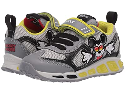 Geox Kids Shuttle 16 Mickey Mouse (Toddler/Little Kid) (Grey/Lime) Boy