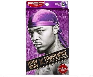 Kiss Red Power Wave Velvet Luxe Durag, Purple 1 Ea, 1count