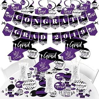 Big Dot of Happiness Purple Grad - Best is Yet to Come - 2019 Purple Graduation Party Supplies - Banner Decoration Kit - Fundle Bundle