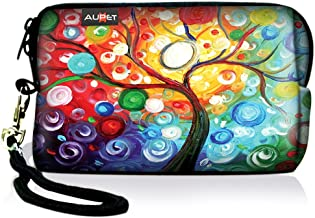 AUPET Colorful Tree Digital Camera Case Bag Pouch Coin Purse with Strap for Sony Samsung Nikon Canon Kodak