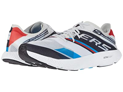 SKECHERS Go Run Horizon Vanish (White/Blue/Red) Men