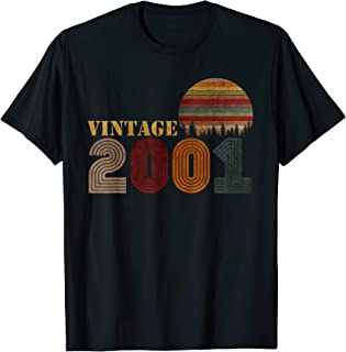 Vintage Retro 2001 T-Shirt 18 Years Old 18th Birthday Gift
